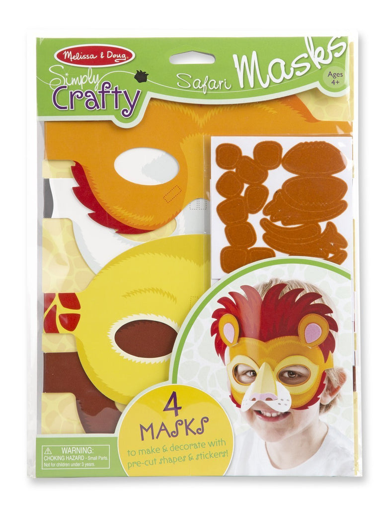Melissa Doug Simply Crafty - Safari Masks 9478