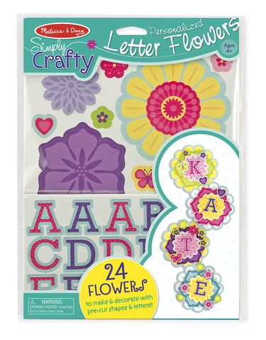 Image of Melissa Doug Simply Crafty - Personalized Letter Flowers 9488