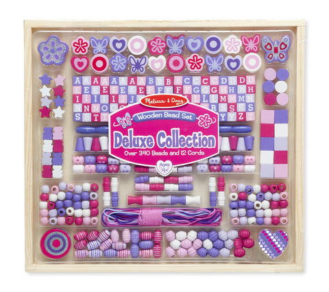 Image of Melissa Doug Deluxe Collection - Wooden Bead Set 9493