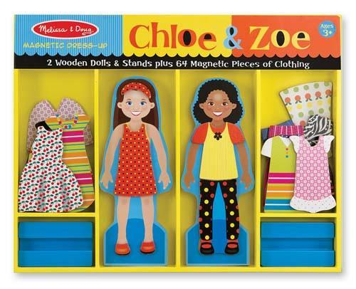 Melissa Doug Chloe & Zoe - Magnetic Dress Up