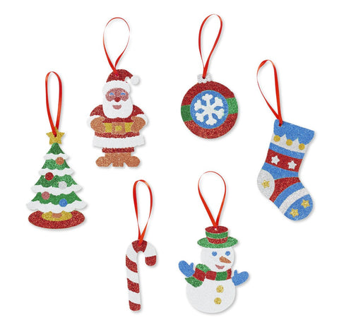 Image of Melissa Doug Mess Free Glitter - Christmas Ornaments 9503