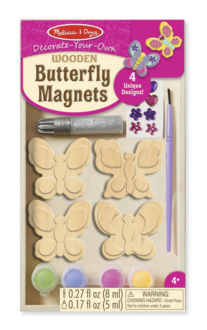 Image of Melissa Doug DYO Wooden Butterfly Magnets 9515