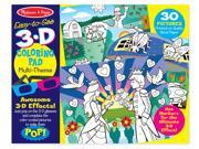 Melissa & Doug Easy-to-See 3-D Kids' Coloring Pad, Princesses, Fairies, Horses, and More