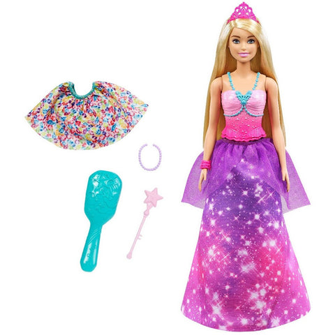 Image of ?Barbie Dreamtopia 2-in-1 Princess to Mermaid Fashion Transformation Doll