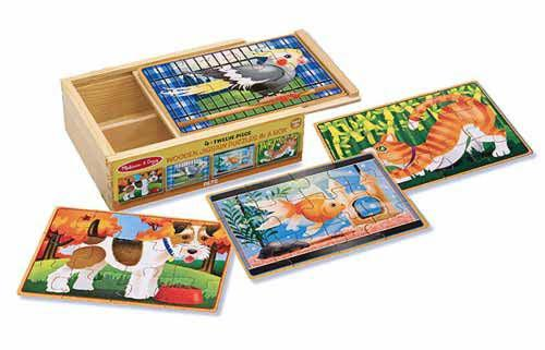 Melissa Doug Pets Puzzles in a Box 3790