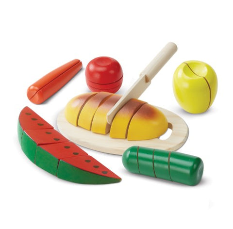 Image of Melissa & Doug 22-Piece Cut & Slice Wooden Play Food