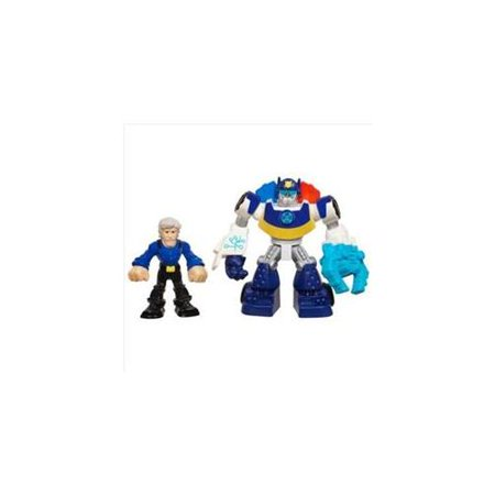 Transformers Rescue Bots Playskool Heroes Axel Frazier and Microcopter Set