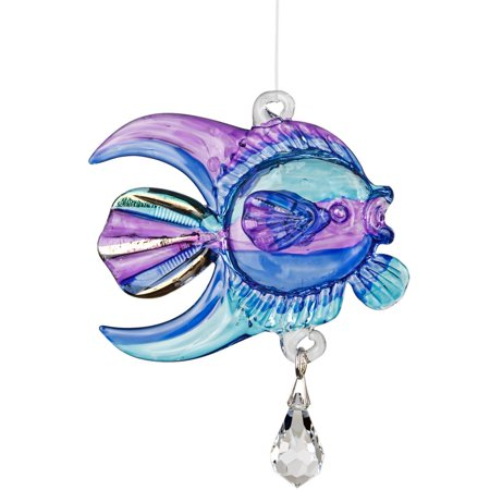 Fantasy Glass - Coral Fish, Purple