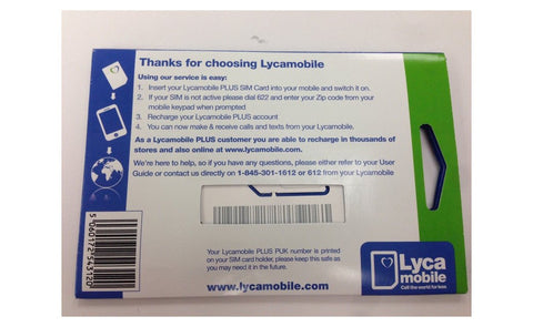 Image of Lycamobile Triple Cut 4G LTE All-In-One Nano Micros Standard Sim Card