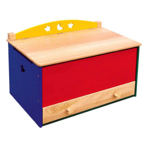 Guidecraft Toy Box, Moon and Stars