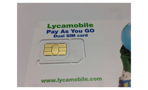 Image of Lycamobile Triple Cut 4G LTE All-in-one Proloaded $19/plan Sim Card w/ Free Style Pen