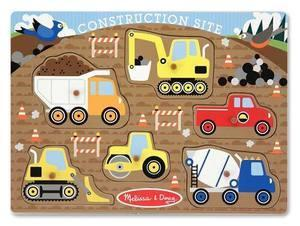 Melissa Doug Construction Site Peg Puzzle