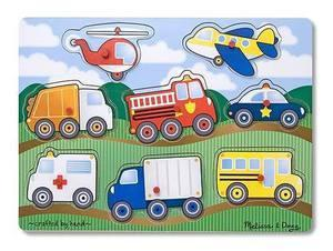 Melissa Doug Vehicles Peg Puzzle