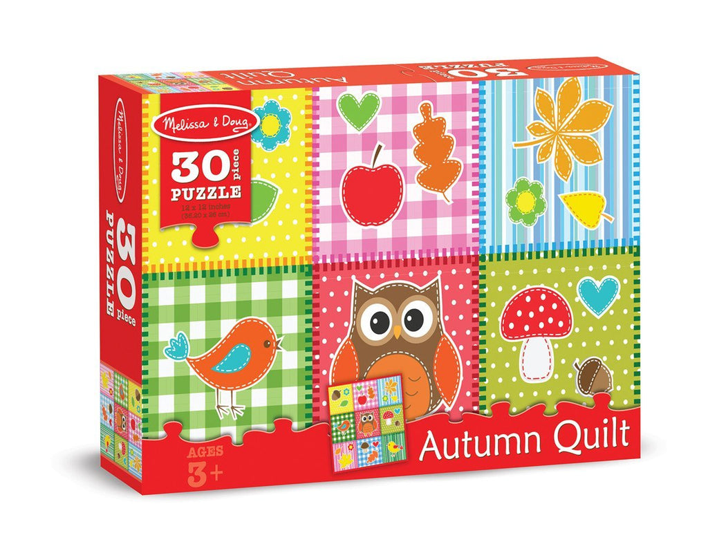 Melissa Doug 0030 pc Autumn Quilt Cardboard Jigsaw