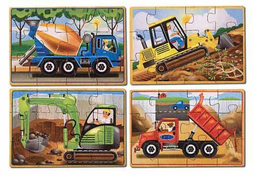Melissa Doug Construction Puzzles in a Box