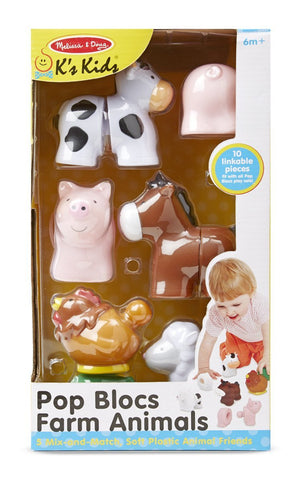 Melissa Doug Pop Blocs Farm Animals 9196