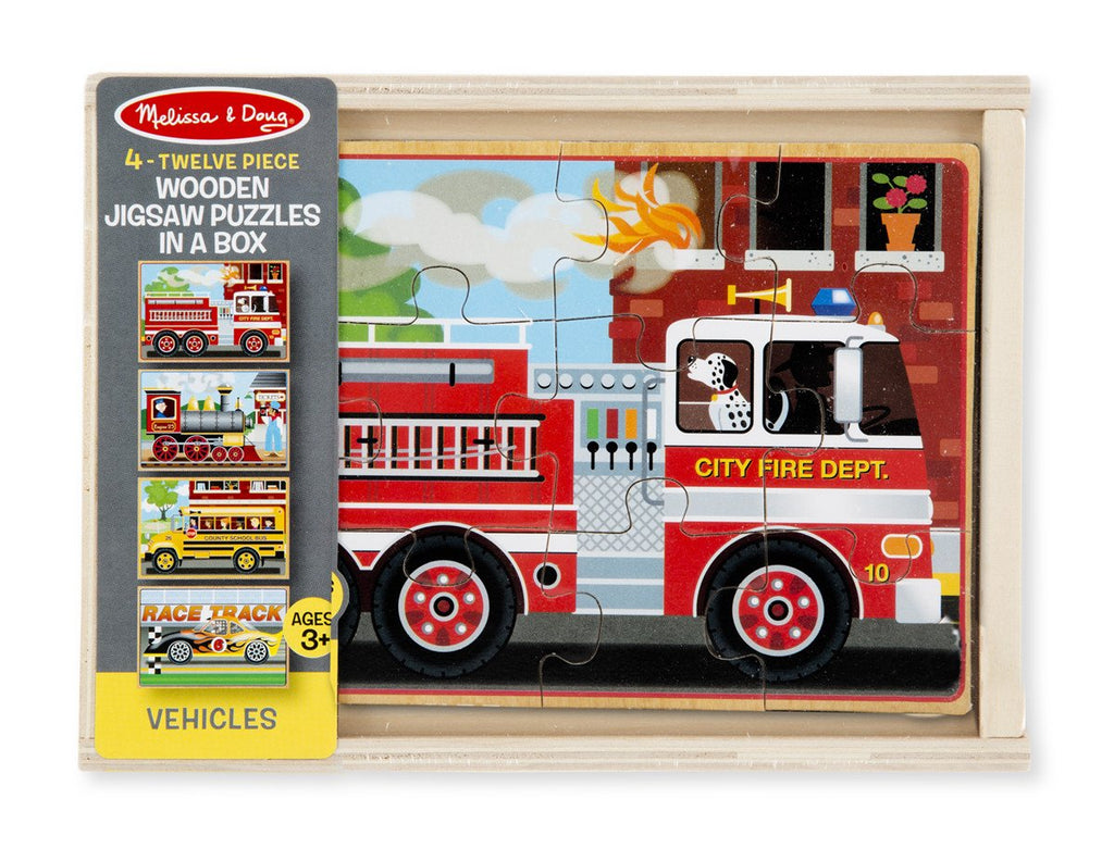 Melissa Doug Vehicle Puzzles in a Box 3794