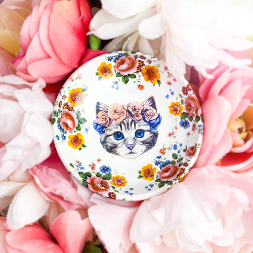 Floral Kitty Dish