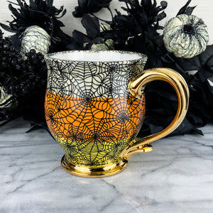 Cobwebs and Candycorn Mug