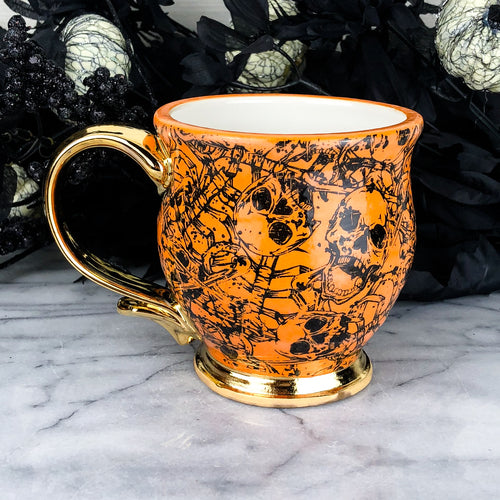 Orange Skeleton Mug