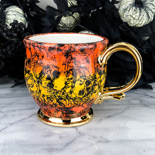 Ombre Skeleton Mug
