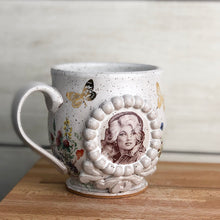 Load image into Gallery viewer, Dolly Parton Speckled Cameo Mug