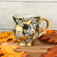 Load image into Gallery viewer, Gilded Fallen Leaves Mug