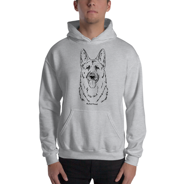 German Shepherd- Unisex Heavy Blend Hooded Sweatshirt