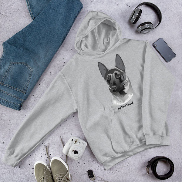 Belgian Malinois  - Unisex Heavy Blend Hooded Sweatshirt