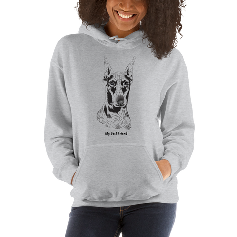 Doberman Pinscher - Unisex Heavy Blend Hooded Sweatshirt