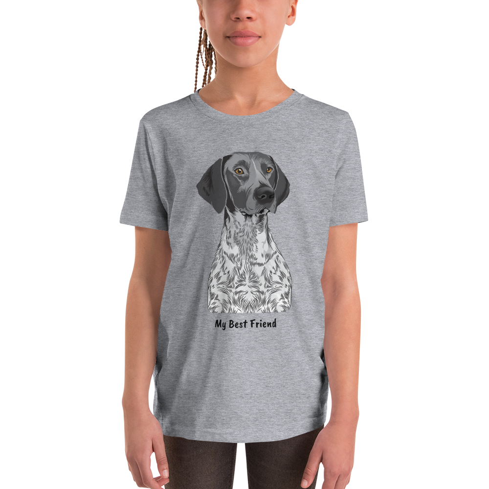 German Shorthaired Pointer - Unisex Youth Short Sleeve Tee