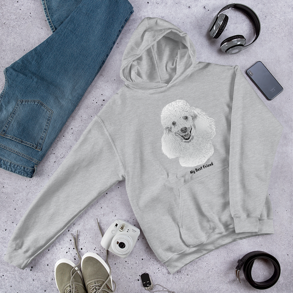 Poodle - Unisex Heavy Blend Hooded Sweatshirt
