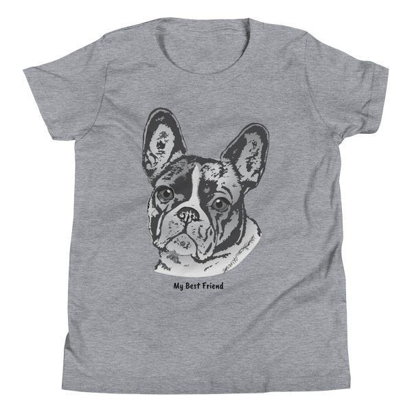 French Bulldog - Unisex Youth Short Sleeve Tee