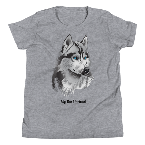 Siberian Husky - Unisex Youth Short Sleeve Tee