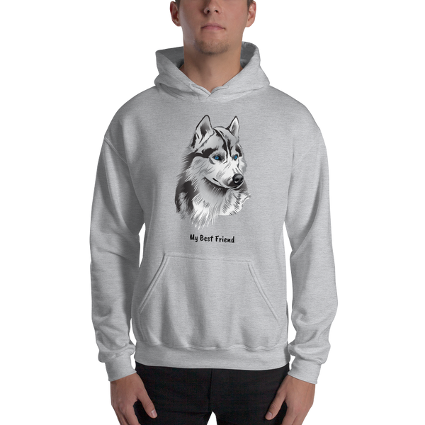 Siberian Husky - Unisex Heavy Blend Hooded Sweatshirt