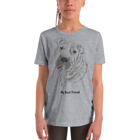 Shar Pei  - Unisex Youth Short Sleeve Tee