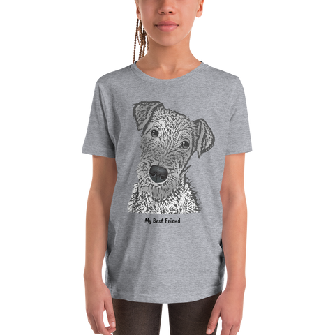 Airedale Terrier - Unisex Youth Short Sleeve Tee