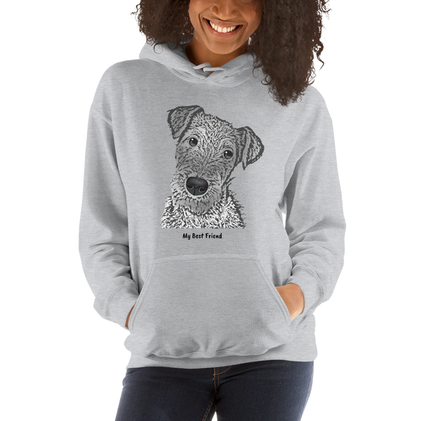 Airedale Terrier - Unisex Heavy Blend Hooded Sweatshirt
