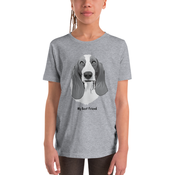 Basset Hound - Unisex Youth Short Sleeve Tee