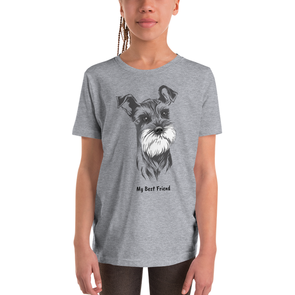 Miniature Schnauzer - Unisex Youth Short Sleeve Tee