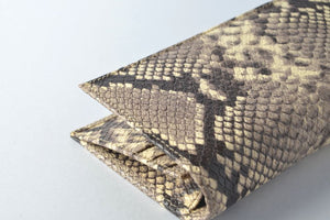 Snake Leather Long Wallet