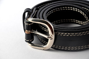 Black Double Stitched Carabao Belt