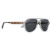 Johnny Fly Apache Tinted Crystal | Black Walnut | Smoke Polarized Stacked Wooden Eyewear