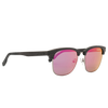 Johnny Fly Hughes Brushed Silver | Black Ebony | Ruby Flash Polarized First Class