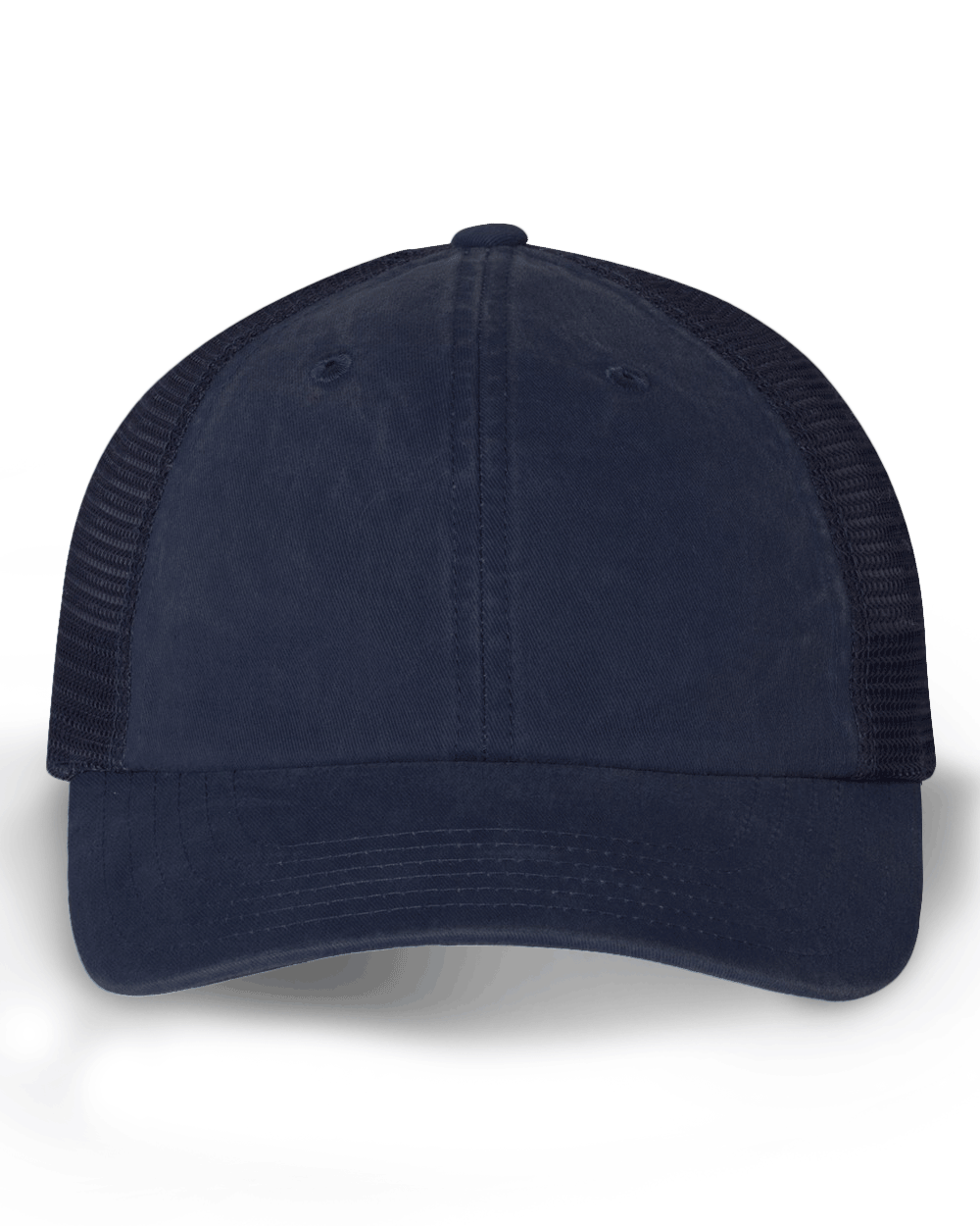 GS - PONYTAIL TRUCKER HATS - STRUCTURED COTTON MESH BACK