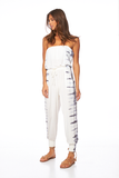 Reece Jumpsuit In White Symbol Wash