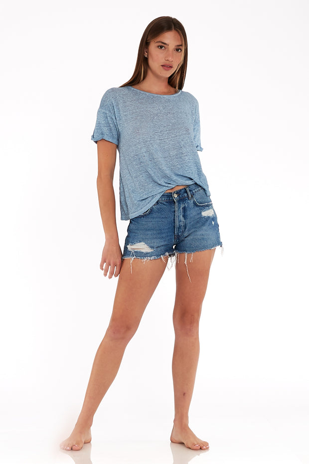 Twister T In Chambray Oil Wash