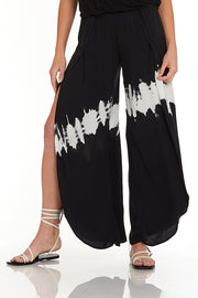 Palms Pants In Black & Whit Comet Wash