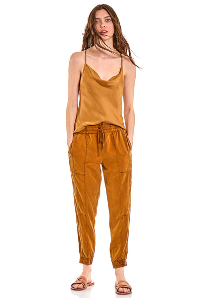 Laurel Pant In Olive Bark