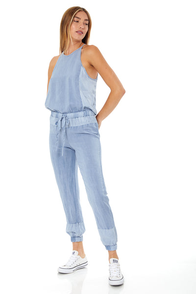 Diego Jumpsuit In Bluestone